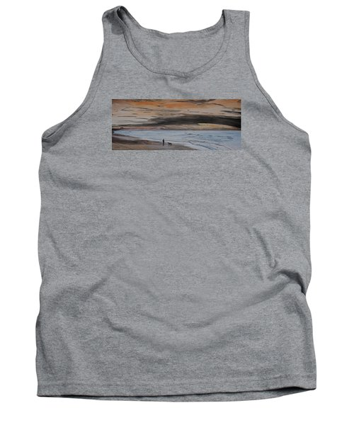 Man And Dog On The Beach Tank Top