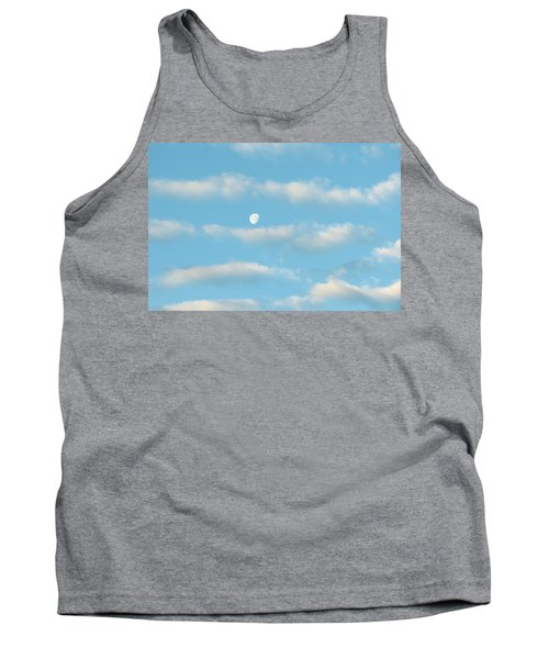 Tank Top featuring the photograph Man In The Moon In The Clouds by Fortunate Findings Shirley Dickerson