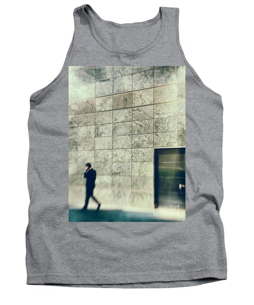Tank Top featuring the photograph Man With Cell Phone by Silvia Ganora