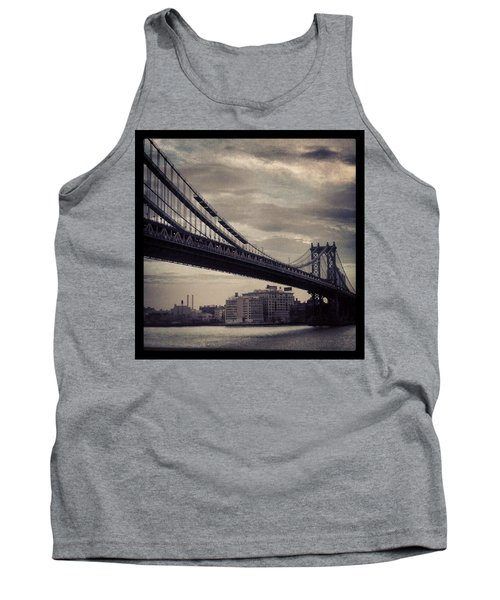 Manhattan Bridge In Ny Tank Top