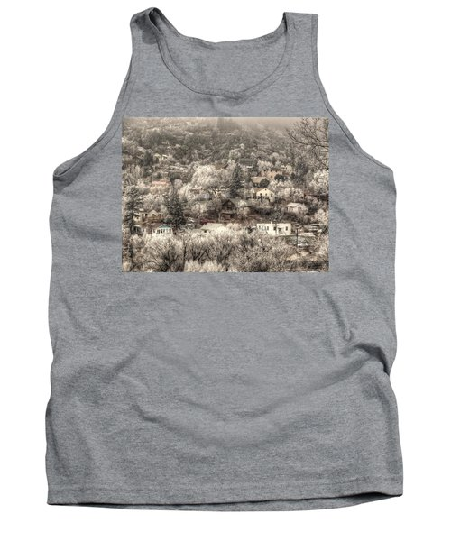 Tank Top featuring the photograph Manitou To The South In Snow Close Up by Lanita Williams
