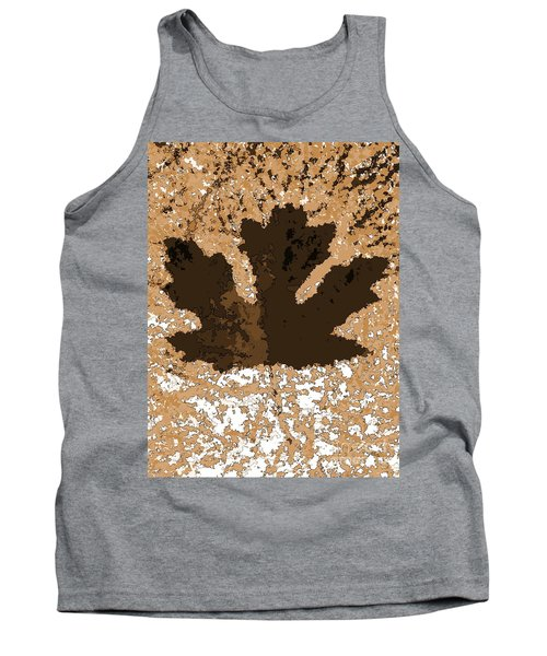 Maple Leaf Brown  Hues Tank Top