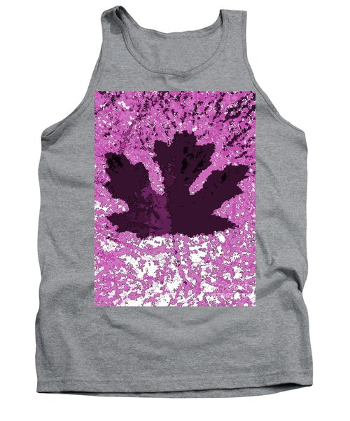 Maple Leaf Purple Pop Poster Hues  Tank Top
