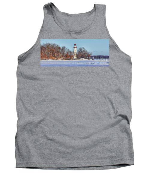 Marblehead Lighthouse In Winter Tank Top