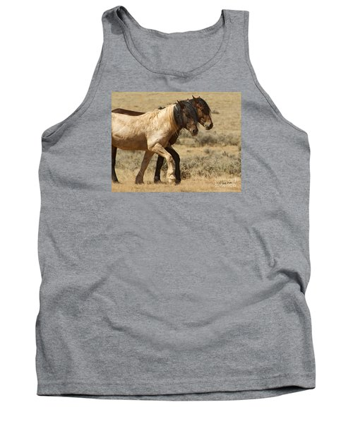 Mares In Step-signed-#9139 Tank Top by J L Woody Wooden