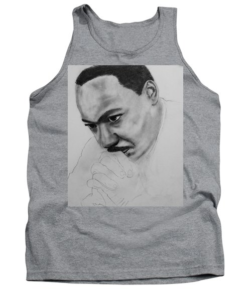 Tank Top featuring the drawing Martin Luther King Jr. Mlk Jr. by Michael Cross
