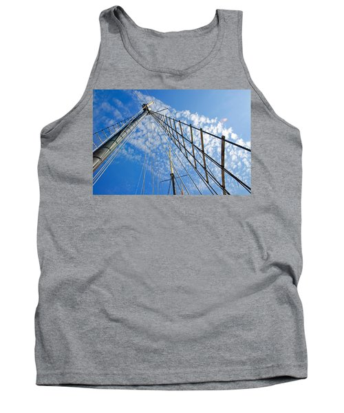 Masted Sky Tank Top by Keith Armstrong