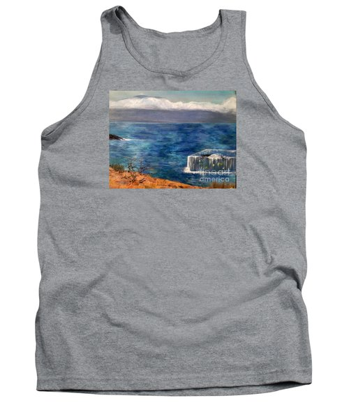 Tank Top featuring the painting Frida Goes To Maui by Vanessa Palomino