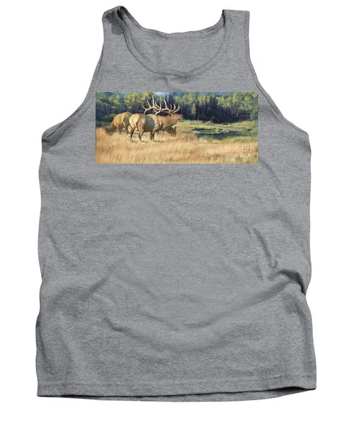 Tank Top featuring the painting Meadow Music by Rob Corsetti