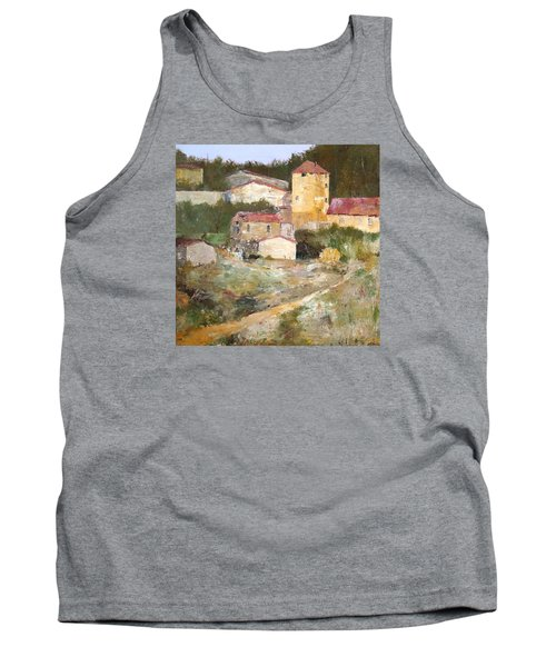 Mediterranean Farm Tank Top by Alan Lakin