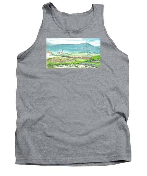 Tank Top featuring the painting Medjugorje Fields by Christina Verdgeline
