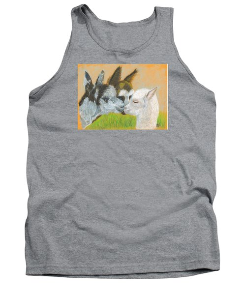 Tank Top featuring the drawing Meeting Uncle Al by Carol Wisniewski
