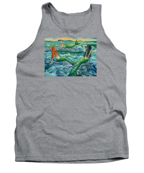 Mermaids On The Rocks Tank Top