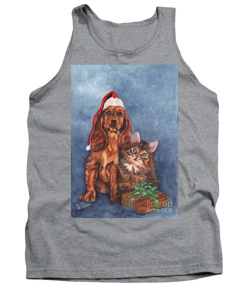 Tank Top featuring the painting Merry Christmas by Carol Wisniewski