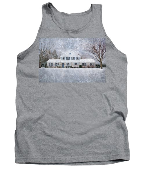 Wintry Holiday Tank Top by Shelley Neff
