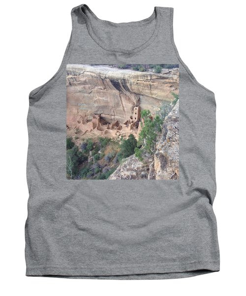 Tank Top featuring the photograph Mesa Verde Colorado Cliff Dwellings 1 by Richard W Linford
