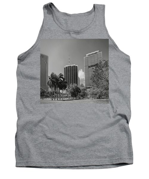 Miami Cityscape  Bw Tank Top