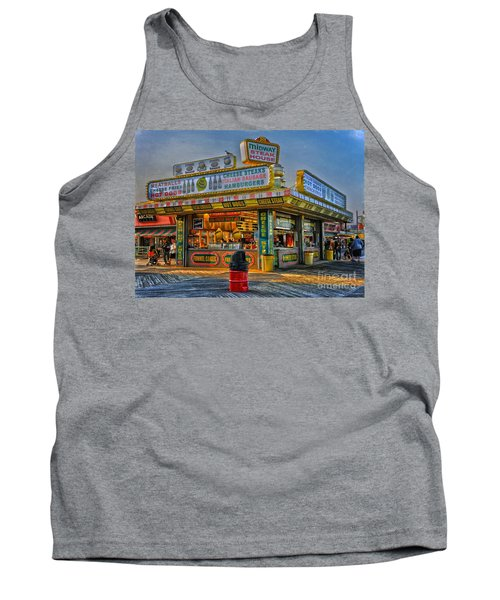 Tank Top featuring the photograph Midway Steak House by Debra Fedchin
