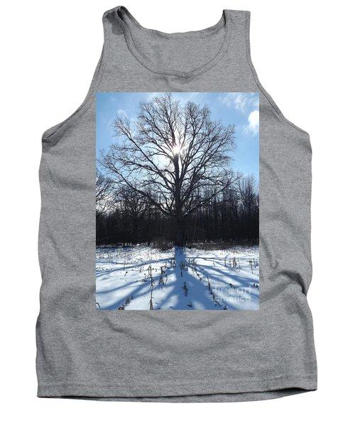 Mighty Winter Oak Tree Tank Top