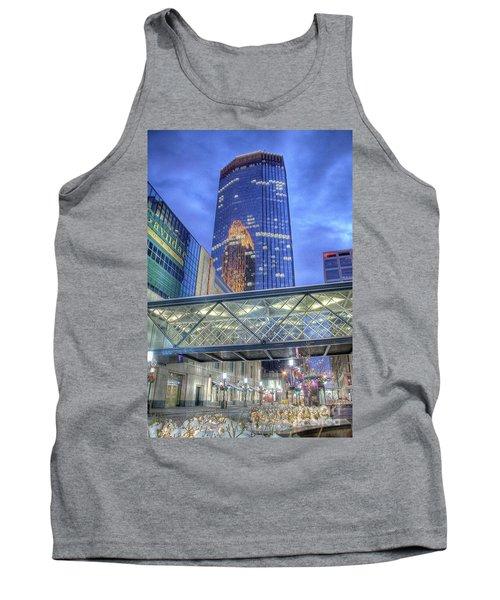 Minneapolis Skyline Photography Nicollet Mall Winter Evening Tank Top