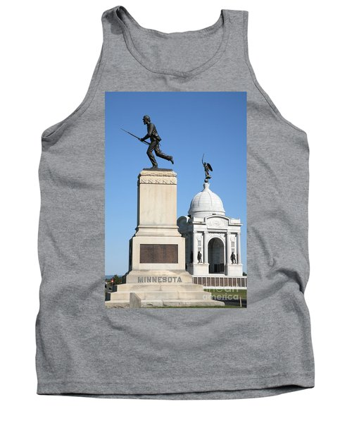 Minnesota And Pennsylvania Monuments At Gettysburg Tank Top