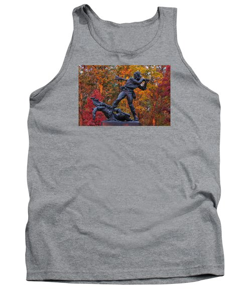Mississippi At Gettysburg - The Rage Of Battle No. 1 Tank Top