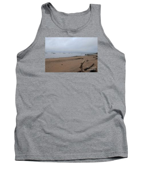 Tank Top featuring the photograph Misty Harbor by David Jackson