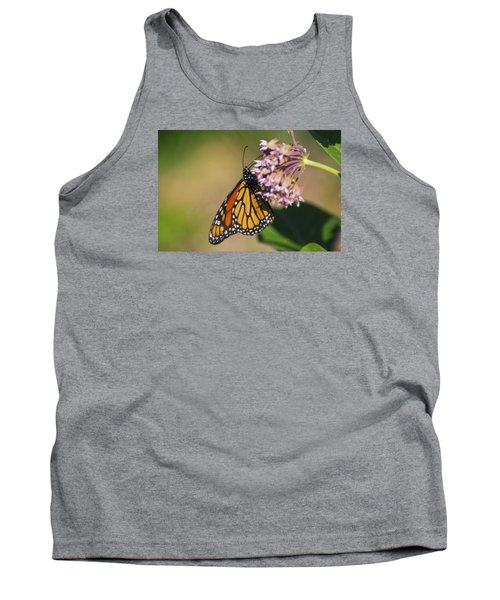 Monarch On Milkweed Tank Top by Shelly Gunderson