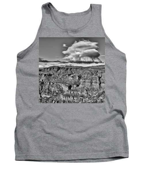 Tank Top featuring the photograph Monument Valley 5 Bw by Ron White