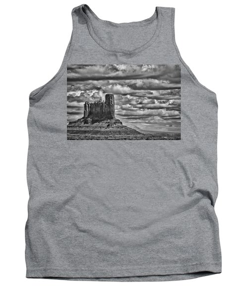Tank Top featuring the photograph Monument Valley 6 Bw by Ron White