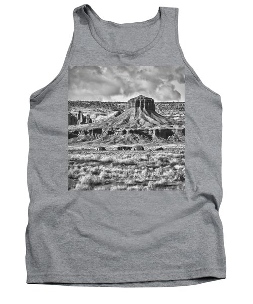 Tank Top featuring the photograph Monument Valley 7 Bw by Ron White