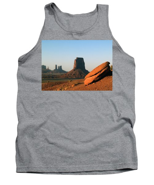 Tank Top featuring the photograph Monument Valley Afternoon by Jeff Brunton