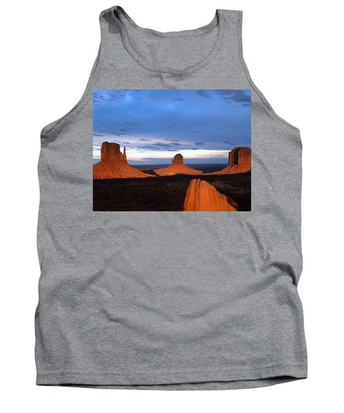 Tank Top featuring the photograph Monument Valley @ Sunset 2 by Jeff Brunton
