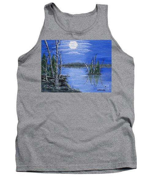 Tank Top featuring the painting Moonlight Mist by Brenda Brown