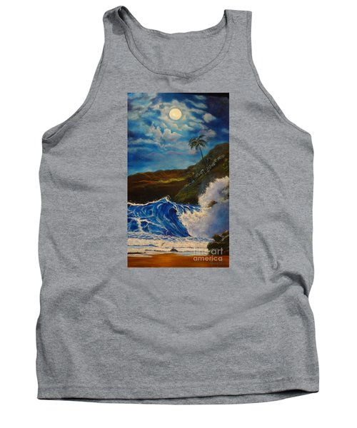 Moonlit Wave 11 Tank Top by Jenny Lee