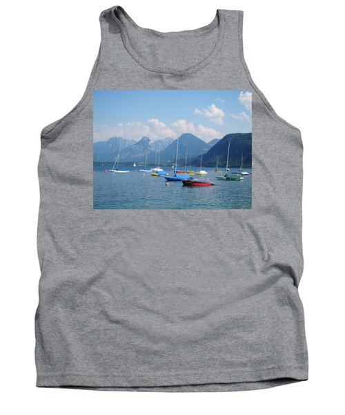 Tank Top featuring the photograph Moored Boats by Pema Hou