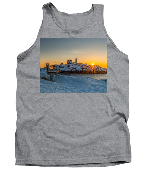 Morning Light At Nubble Lighthouse Tank Top
