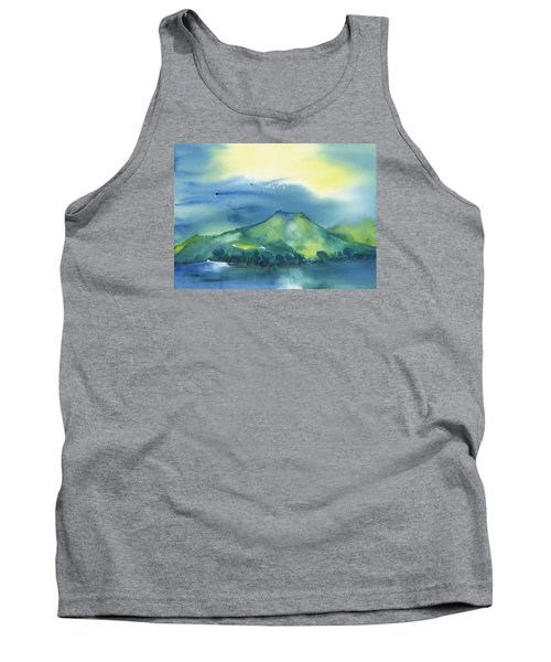 Tank Top featuring the painting Morning Over The Mountain by Frank Bright