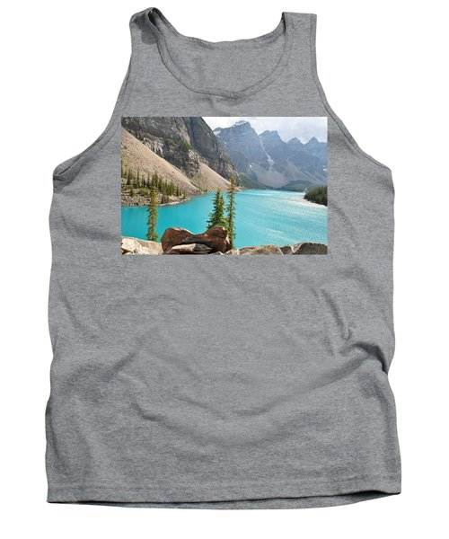 Morraine Lake Tank Top by Jim Hogg