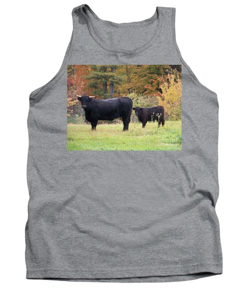 Tank Top featuring the photograph Highland Cattle  by Eunice Miller