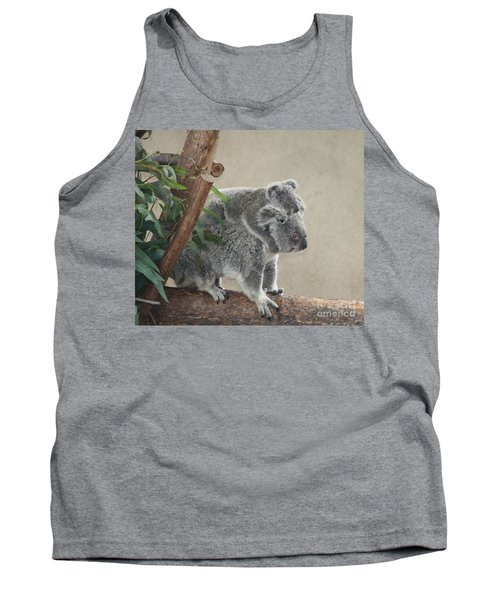 Mother And Child Koalas Tank Top by John Telfer