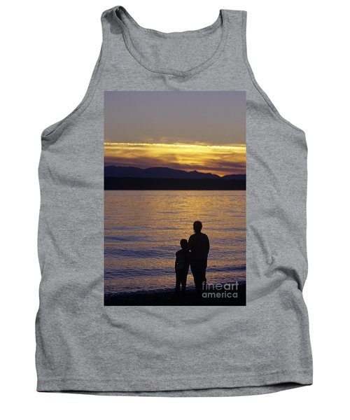 Mother And Daughter Holding Each Other Along Edmonds Beach At Su Tank Top