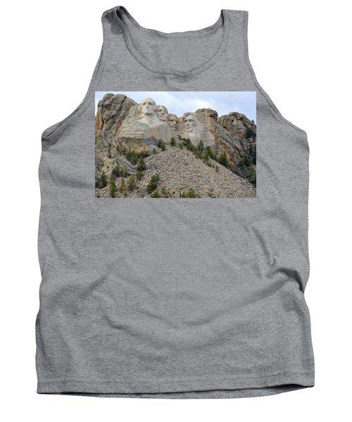 Tank Top featuring the photograph Mount Rushmore In South Dakota by Clarice  Lakota