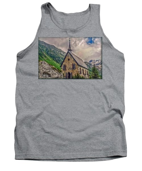 Tank Top featuring the photograph Mountain Chapel by Hanny Heim