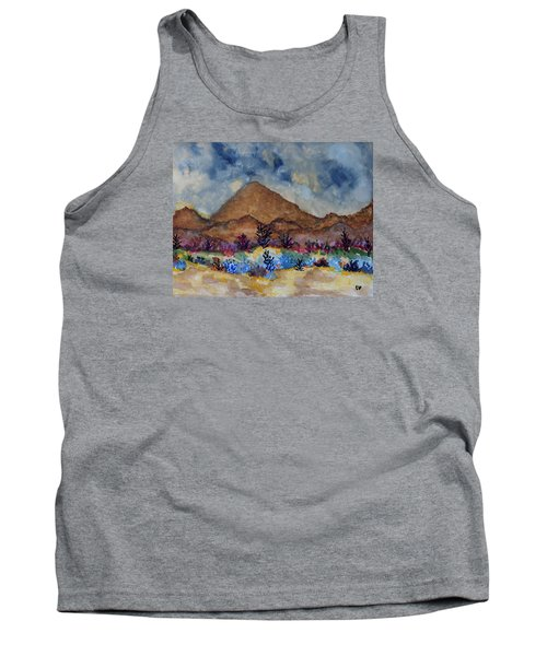 Tank Top featuring the painting Mountain Desert Scene by Connie Valasco