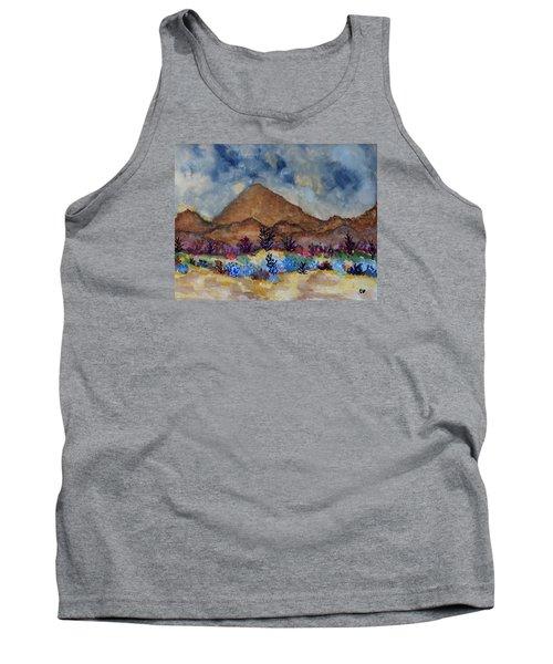 Mountain Desert Scene Tank Top