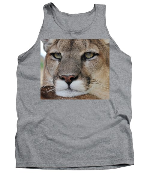 Mountain Lion Portrait 2 Tank Top