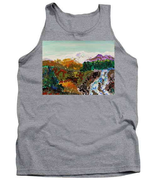 Mountain Water Tank Top by Mary Carol Williams