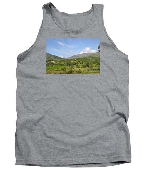 Tank Top featuring the photograph Mountains Sky And Clouds Swat Valley Pakistan by Imran Ahmed