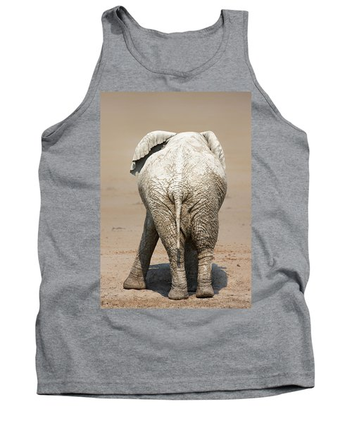 Muddy Elephant With Funny Stance  Tank Top